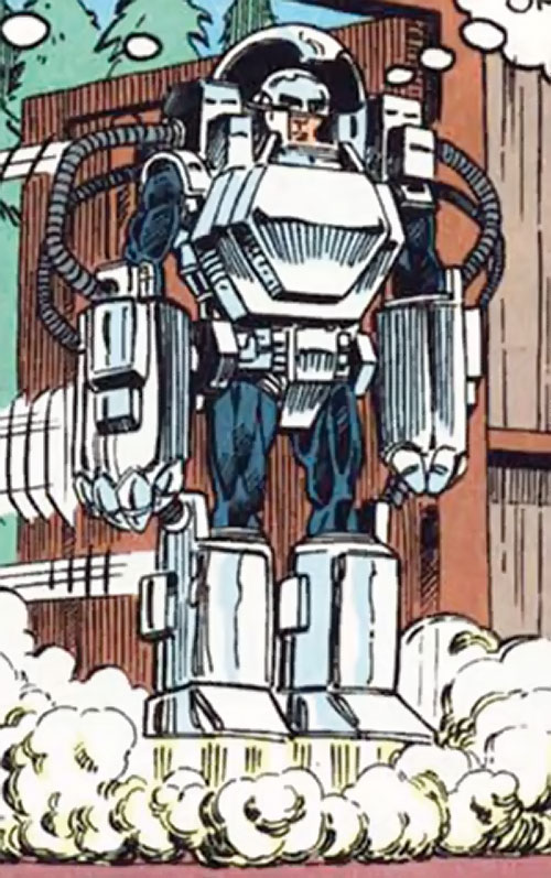 Groundhog of Alpha Flight (Marvel Comics) (Benard) flying