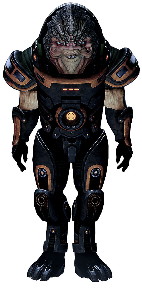 Grunt (Mass Effect 2) in his loyal outfit