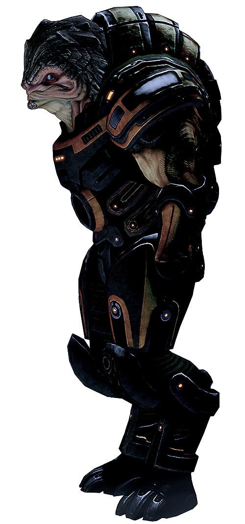Grunt (Mass Effect 2) black and orange armor
