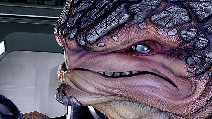 Grunt face closeup
