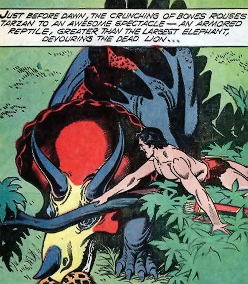 Tarzan observes a gryf