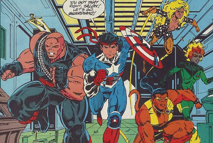 The Guardians of the Galaxy during the 1990s