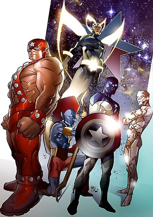 Guardians of the Galaxy team (original Marvel Comics version)
