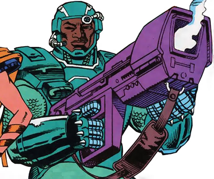 Gunshot poses with his rifle