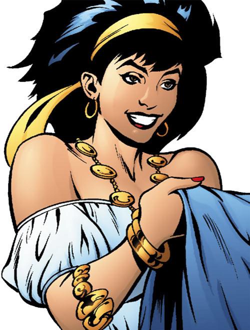 Gypsy of the JLA Detroit (DC Comics) face closeup
