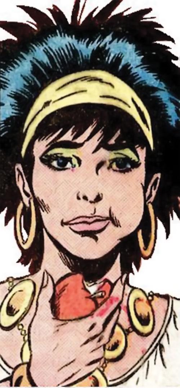 Gypsy of the JLA Detroit (DC Comics) eating an apple