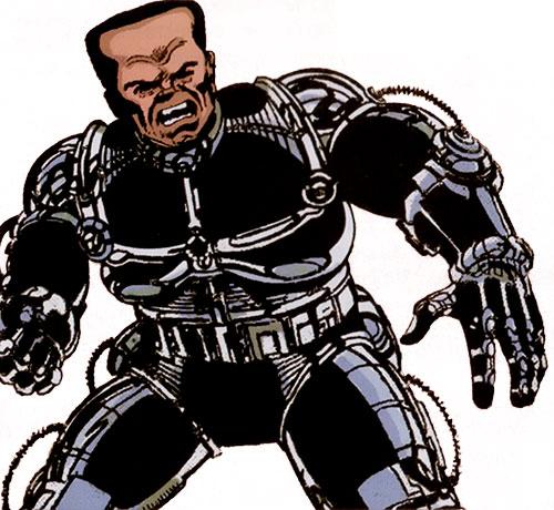 Hammerhead (Marvel Comics) (Spider-Man enemy) wearing an exoskeleton