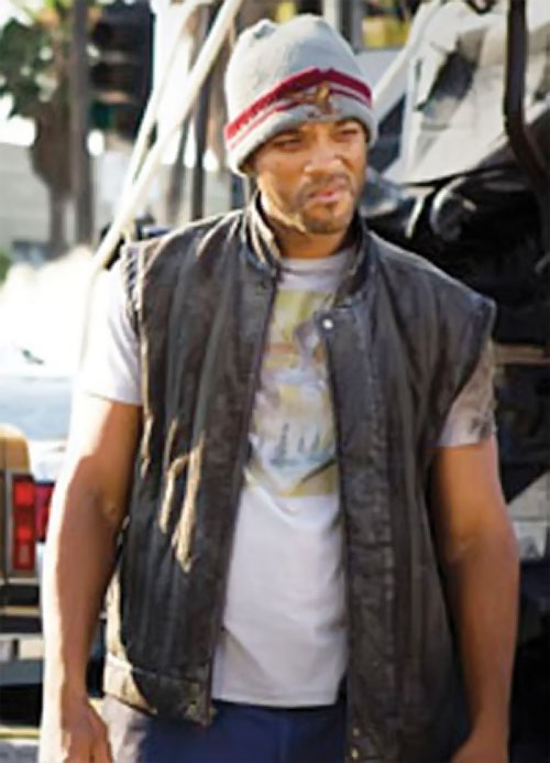 Hancock (Will Smith) in dirty old clothing