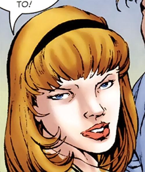 Brood Queen Hannah Connover (X-Men character) (Marvel Comics) face closeup