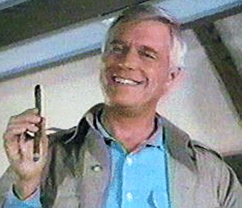 Hannibal (John Peppard in The A-Team) with a cigarillo