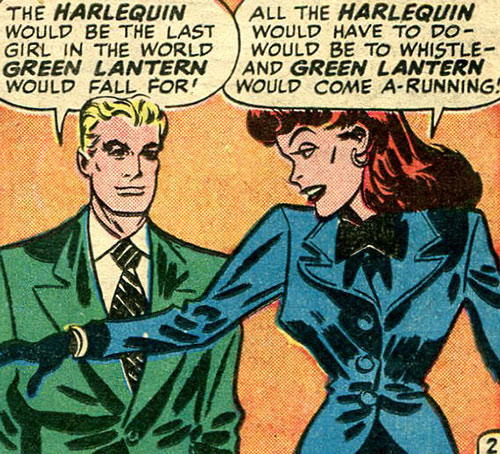 Harlequin (Molly Maynne) and Alan Scott in their civvies