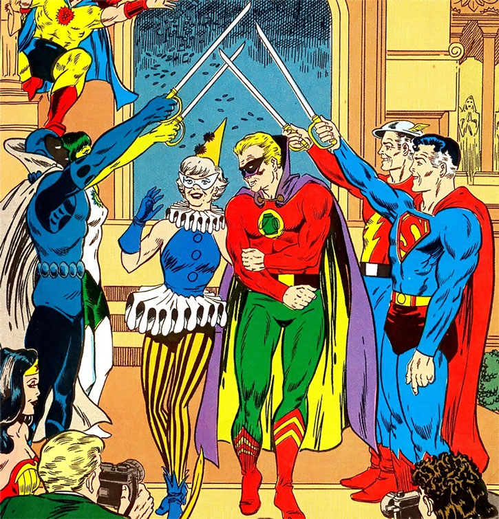 Marriage of Harlequin and Green Lantern