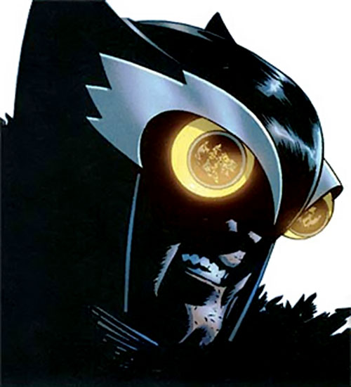 Hawk Owl (Ultimate Marvel Comics) face closeup
