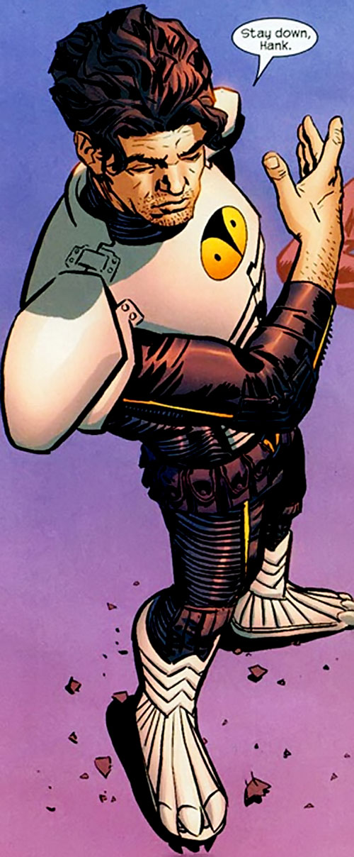 Hawk Owl (Ultimate Marvel Comics) without his helmet