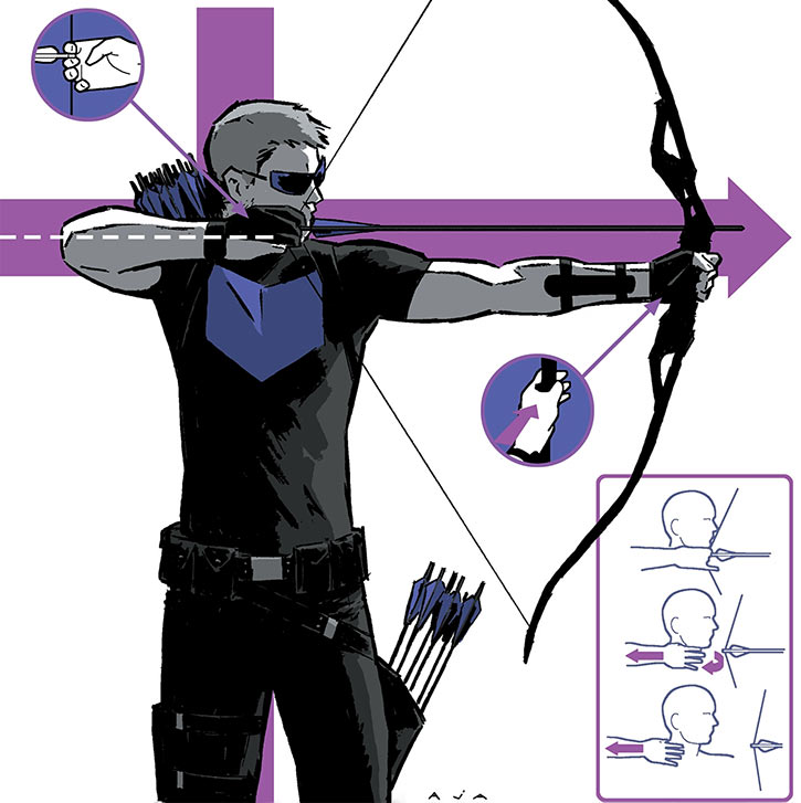 Hawkeye (Clint Barton) archery picture by Aja