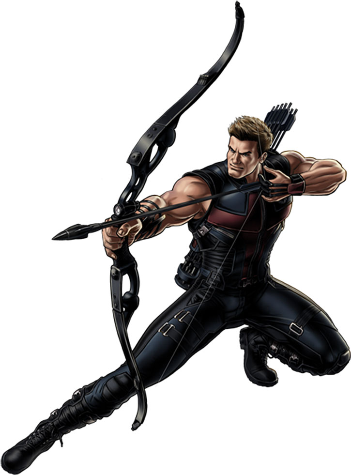 Hawkeye (Clint Barton) with the movie-based costume