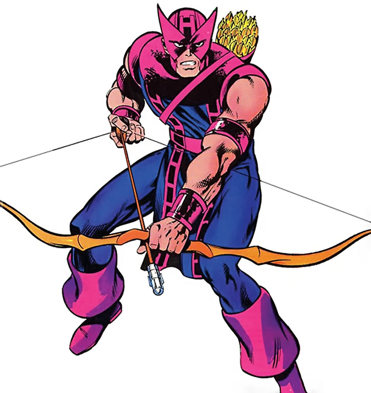 Hawkeye (Clint Barton) with his bow readied