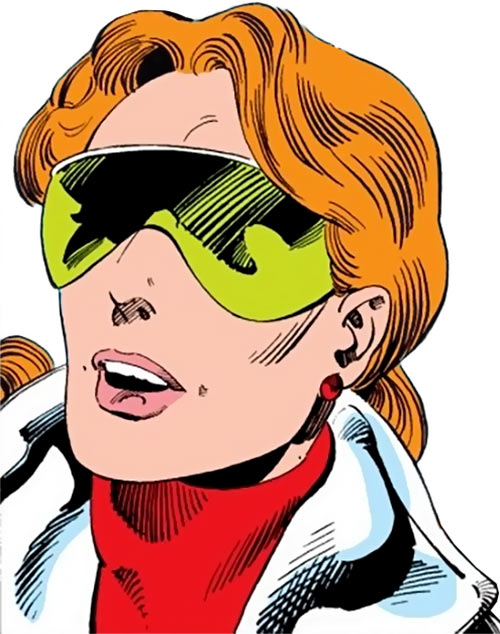Heather Hudson (Alpha Flight) (Marvel Comics) with green goggles