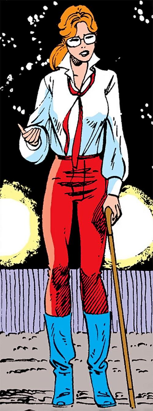 Heather Hudson (Alpha Flight) (Marvel Comics) with a cane