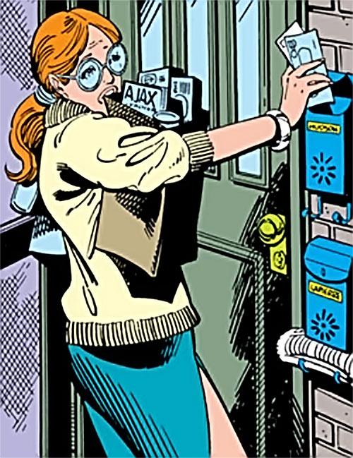 Heather Hudson (Alpha Flight) (Marvel Comics) struggles with groceries