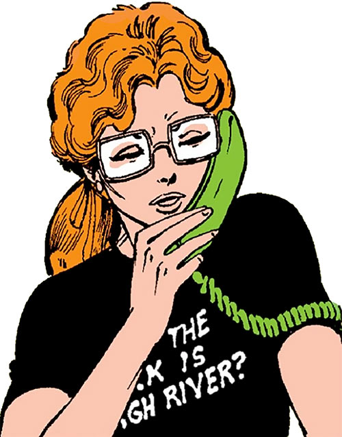Heather Hudson (Alpha Flight) (Marvel Comics) on the phone