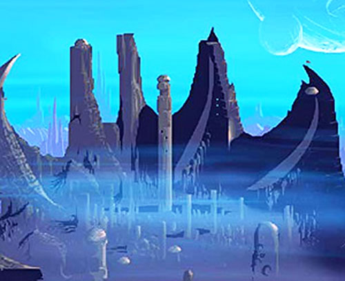 Alien city in the Another World video game