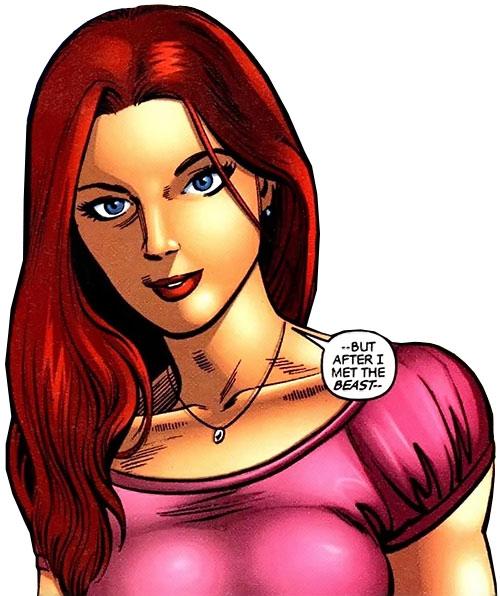 Hellcat (Patsy Walker) (Marvel Comics) in a pink top
