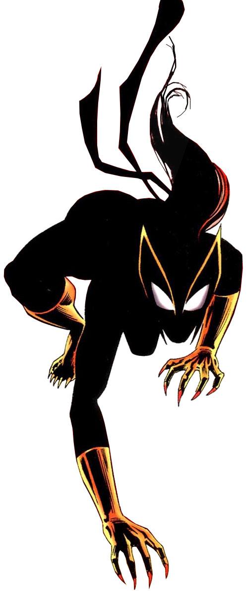 Hellcat (Patsy Walker) (Marvel Comics) ominous silhouette