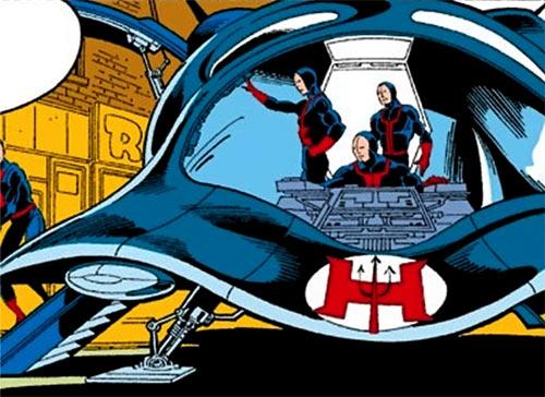 Hellfire Club (Marvel Comics) (Sebastian Shaw 2) - Mercenaries with air vehicle