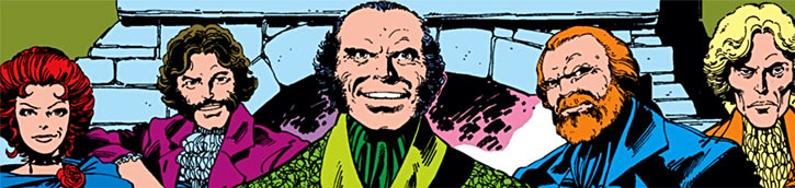 Hellfire Club (Marvel Comics) (Sebastian Shaw 2) - Inner circle faces