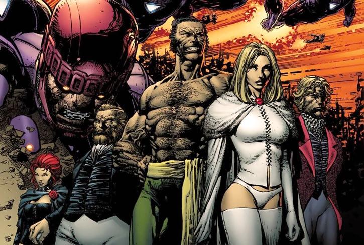 Hellfire Club (Marvel Comics) (Sebastian Shaw 2) - with Sentinels