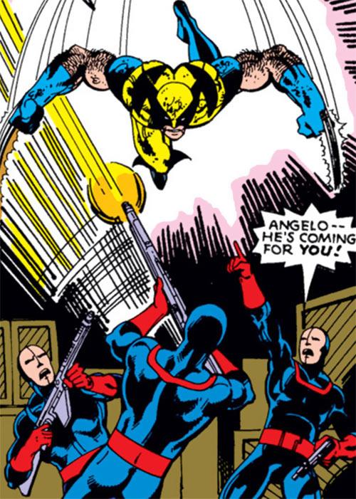 Hellfire Club (Marvel Comics) (Sebastian Shaw 2) - Guards attacked by Wolverine
