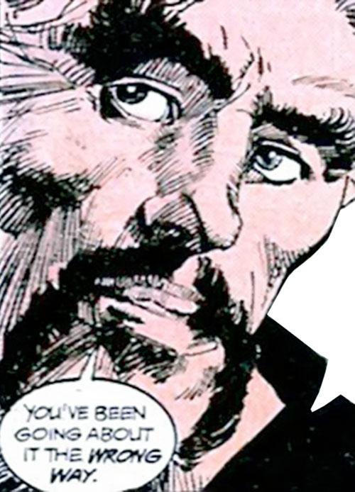 Henri Ducard (Batman character) (DC Comics) face and moustache closeup