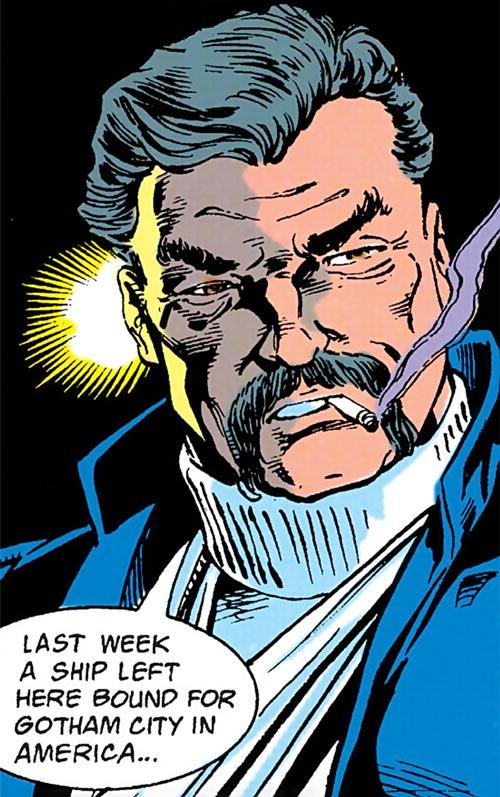 Henri Ducard (Batman character) (DC Comics) smoking a cigarette
