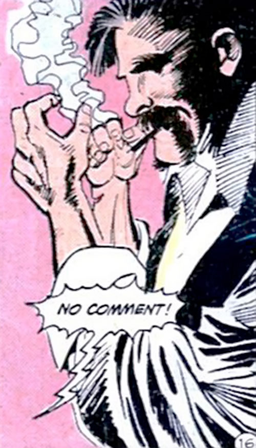 Henri Ducard (Batman character) (DC Comics) lighting up