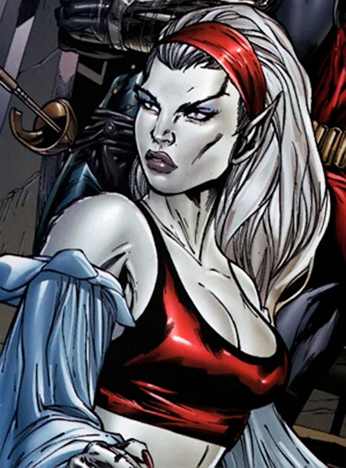 Hepzibah of the Starjammers (X-Men Marvel) in Earth clothing