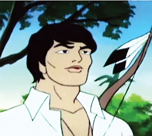 Hiawatha Smith (Spider-Man Amazing Friends cartoon) with feathered bow and white shirt