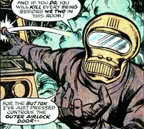 Hijacker (Marvel Comics) hits a button