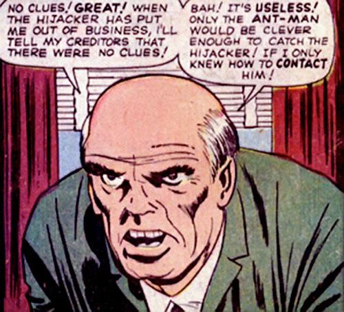 Hijacker (Marvel Comics) unmasked
