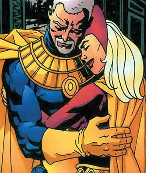 Fury (Lyta Hall) (DC Comics) with Dr. Fate (Hector Hall)