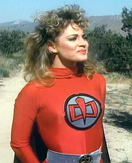 Holly Hathaway (Mary Ellen Stuart in Greatest American Hero) wearing the super-costume