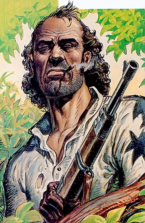 Hombre (Segura & Ortiz) with his rifle