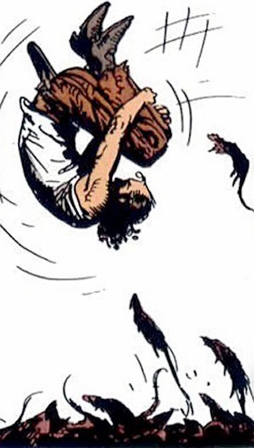 Hombre (Segura & Ortiz) somersaults over rats