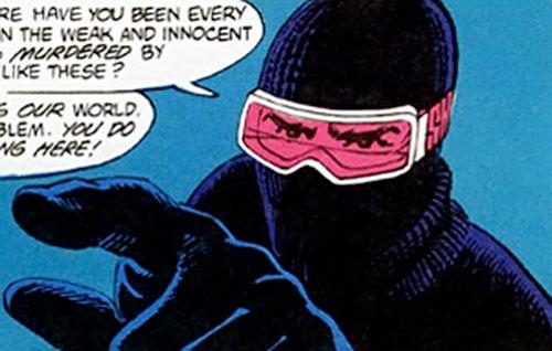 Homeless Avenger (Vigilante character) (DC Comics) mask closeup