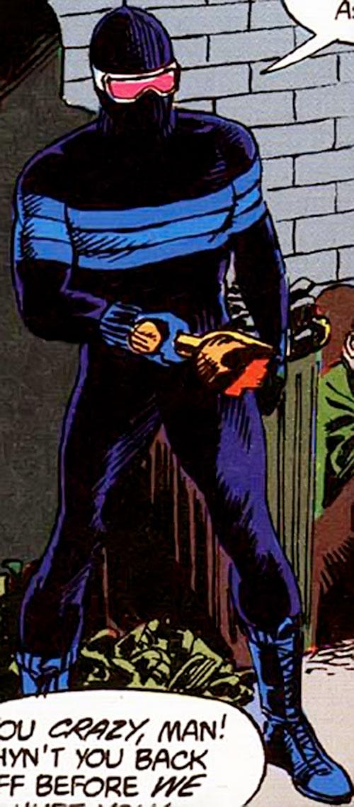 Homeless Avenger (Vigilante character) (DC Comics) with a broken bottle
