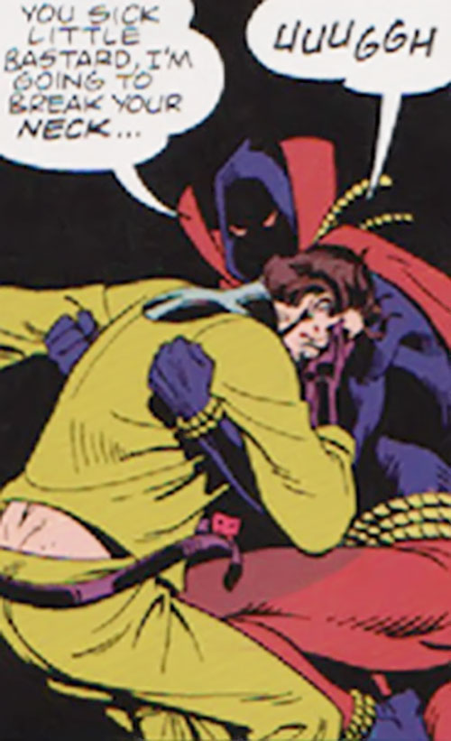 Hooded Justice of the Minutemen (Alan Moore Watchmen comics) vs. the Comedian