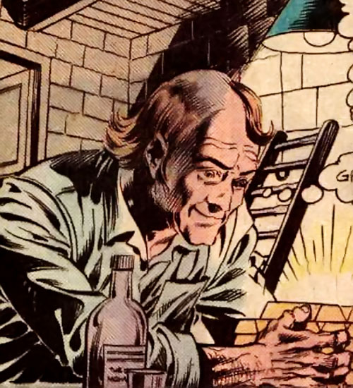 Horace Hobson (Time Warp DC Comics) greedily examining gold ingots