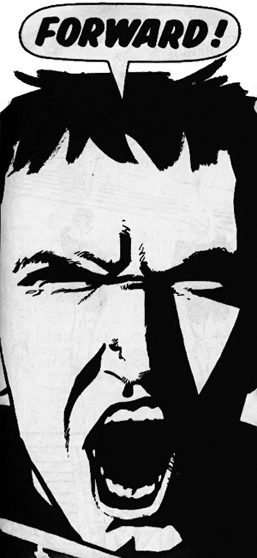 Hotspur (Zenith character, Grant Morrison) (2000 AD Comics) face closeup yelling charge