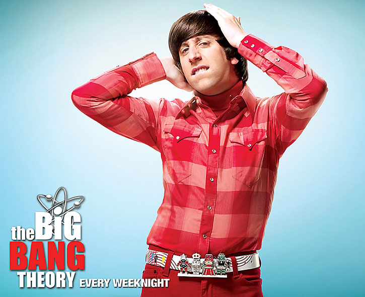Howard Wolowtiz (Simon Helberg) in loud red clothing