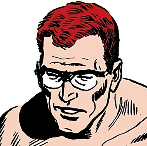 Hugh Evans of the Suicide Squad (DC Comics) face closeup